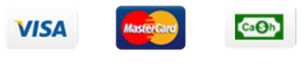 We accept visa mastercard and cash